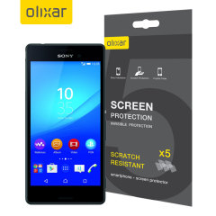 Olixar Sony Xperia M4 Aqua Screen Protector 5-in-1 Pack