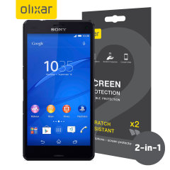 Olixar Sony Xperia Z3 Compact Screen Protector 2-in-1 Pack