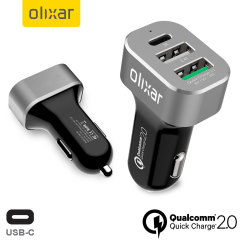 Olixar Triple USB Qualcomm Quick Charge 2.0 Car Charger with USB-C