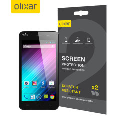 Olixar Wiko Lenny Screen Protector 2-in-1 Pack