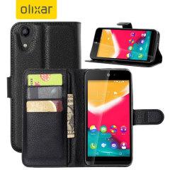 Olixar Wiko Rainbow Jam Wallet Case - Black