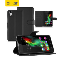 Olixar Wiko Rainbow UP 4G Wallet Case - Black