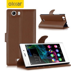 Olixar Wiko Ridge 4G Wallet Case - Brown