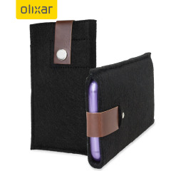 Olixar Wool Felt Pouch for Galaxy S6 / S6 Edge - Black