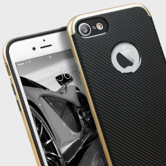Olixar X-Duo iPhone 7 Case - Carbon Fibre Gold