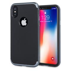 Olixar X-Duo iPhone 8 Case - Carbon Fibre Metallic Grey