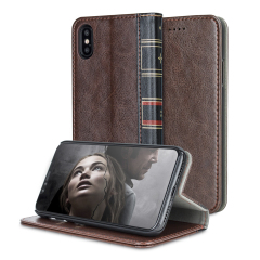 Olixar X-Tome Leather-Style iPhone 8 Book Case - Brown