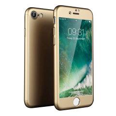 Olixar X-Trio Full Cover iPhone 7S Case - Gold