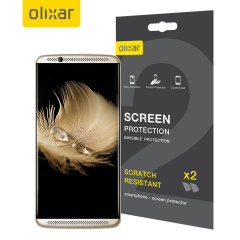 Olixar ZTE Axon 7 Screen Protector 2-in-1 Pack