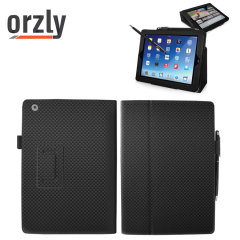 Orzly Carbon Fibre Style Case for iPad Air - Black
