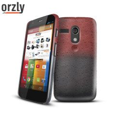 Orzly Raindrop Hard Back Case for Moto G - Brown