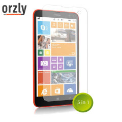 Orzly Screen Protector Pack 5-in-1 for Nokia Lumia 1320