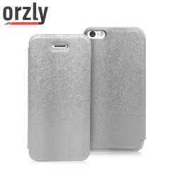 Orzly Wallet & Stand Case for iPhone 5S  - Silver
