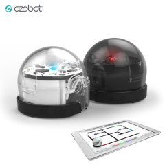 Ozobot 2.0 Bit Robot - Double Pack - Titanium Black & Crystal White