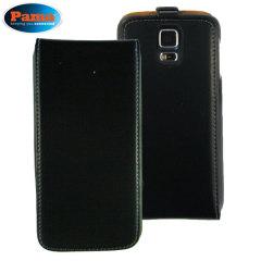 Pama Leather-Style Samsung Galaxy S5 Flip Case - Black
