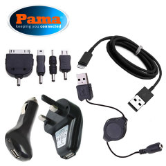 Pama Plug 'n' Go Universal USB Charger Kit - Black