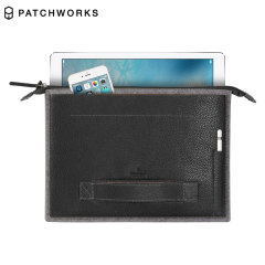 Patchworks Leather & Felt iPad Pro 12.9 inch Sleeve - Black