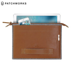 Patchworks Leather & Felt iPad Pro 12.9 inch Sleeve - Brown
