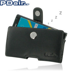 PDair Horizontal Leather BlackBerry Priv Pouch Case - Black