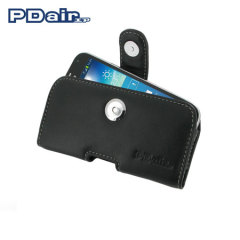 PDair Horizontal Leather Case for Samsung Galaxy S4 Mini - Black