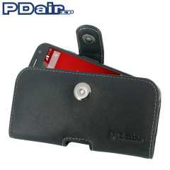 PDair Horizontal Leather Motorola Moto G 2nd Gen Pouch Case - Black