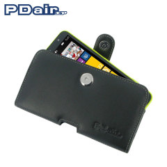 PDair Horizontal Leather Pouch Case for Nokia Lumia 1320 - Black