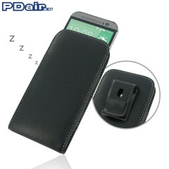 PDair HTC One M8 Vertical Leather Pouch Case with Belt Clip