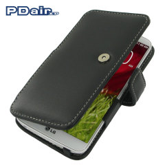 PDair Leather Book Type Case for LG G2 - Black