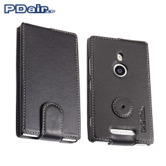 PDair Leather Flip Case for Nokia Lumia 925 - Black