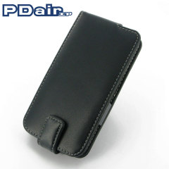 PDair Leather Flip Case For Samsung Galaxy S5 - Black