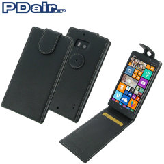 PDair Leather Nokia Lumia 930 Top Flip Case - Black