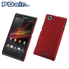 PDair Rubberised Hard Cover for Sony Xperia L - Red