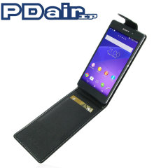 PDair Sony Xperia Z2 Leather Flip Case - Black