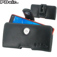 PDair Sony Xperia Z3 Compact Horizontal Leather Pouch Case - Black
