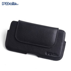 PDair Sony Xperia Z5 Leather Holster Pouch Case - Black