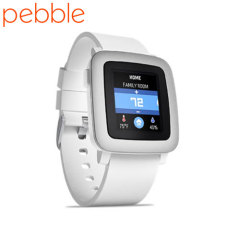 Pebble Time Smartwatch for iOS and Android Devices - White