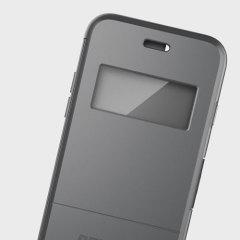 Peli Vault Folio iPhone 7 Plus View Window Wallet Case - Grey / Clear