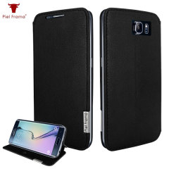 Piel Frama FramaSlim Samsung Galaxy S6 Edge Leather Case - Black