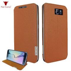 Piel Frama FramaSlim Samsung Galaxy S6 Edge Leather Case - Tan