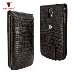 Piel Frama Snap Lizard Case for Samsung Galaxy S4 - Brown