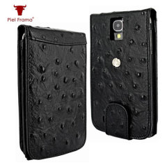 Piel Frama Snap Ostrich Case for Samsung Galaxy S4 - Black