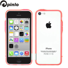 Pinlo Bladedge Bumper Case for iPhone 5C - Pink Transparent