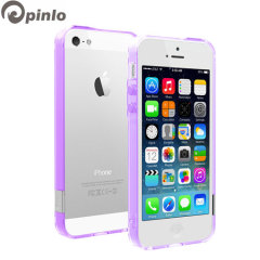 Pinlo BLADEdge Bumper Case for iPhone 5S / 5 - Transparent Purple