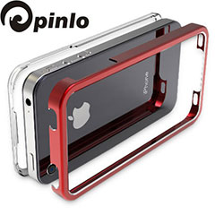 Pinlo United Aluminium Edge Case for iPhone 4S / 4 - Red