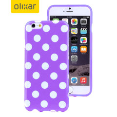 Polka Dot FlexiShield iPhone 6S / 6 Gel Case - Purple