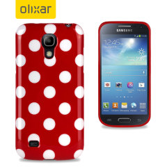 Polka Dot FlexiShield Samsung Galaxy S4 Mini Gel Case - Red