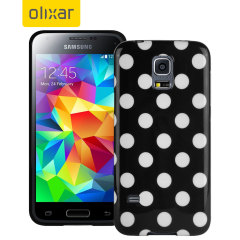 Polka Dot FlexiShield Samsung Galaxy S5 Mini Gel Case - Black