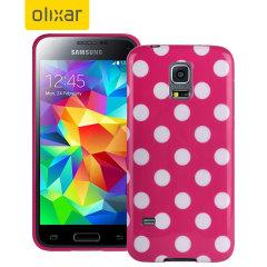 Polka Dot FlexiShield Samsung Galaxy S5 Mini Gel Case - Pink