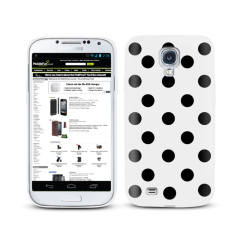 Polka Dots Case For Samsung Galaxy S4 - White
