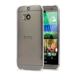 Polycarbonate HTC One M8 Shell Case - 100% Crystal Clear